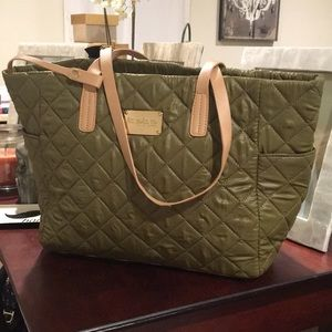 Bebe Isabelle Quilted Nylon Tote